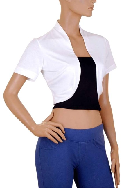 Preload https://item4.tradesy.com/images/black-white-short-sleeve-bolero-shrug-w-tube-night-out-top-size-16-xl-plus-0x-159418-0-0.jpg?width=400&height=650
