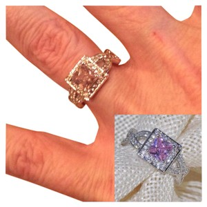 Other 3ct Pink Sapphire .925 Silver Ring Sz 6