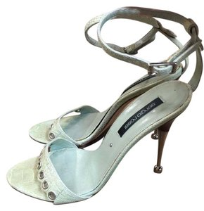 Sergio Rossi Snakeskin Sandal Light Green Sandals
