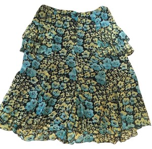 Anna Sui Floral Green Yellow Black Skirt Green/Yellow/Black
