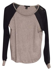 Forever 21 T Shirt Grey/Black