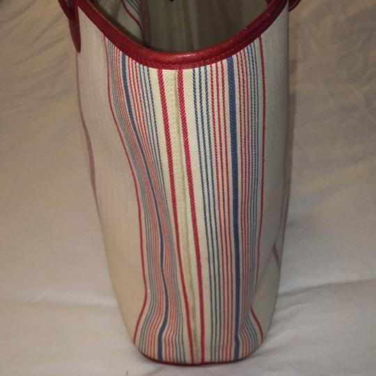 Ralph Lauren Tote in White Red And Blue