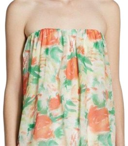 Alice + Olivia Orange/peach floral Halter Top
