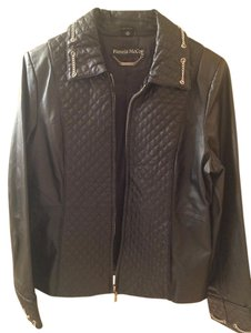 Pamela McCoy Leather Chain Leather Jacket