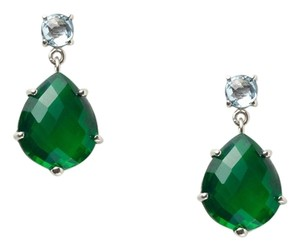 Anzie Anzie Blue Topaz & Green Quartz Earrings