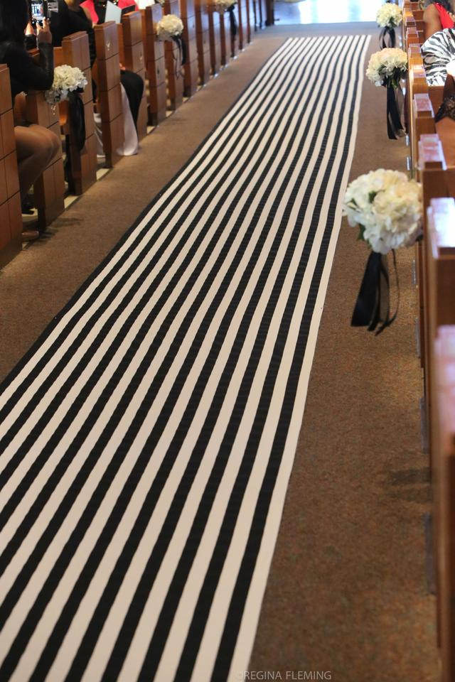 black and white stripe aisle runner tradesy weddings