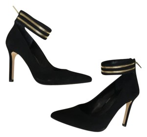 Banana Republic Ankle Strap Zipper Black Pumps