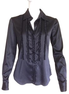 Theory Silk Silk Shirt Silk Blouse Button Long Sleeves Button Down Shirt