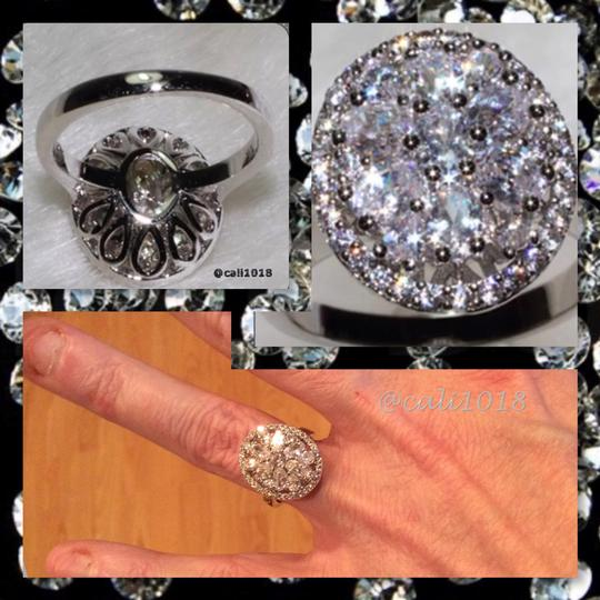 Other New Mega Bling And Sparkly White Topaz And Cz Ring Sz 6