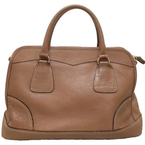 Made in Korea (no designer name) Leather Handbag Business Satchel in Terracotta