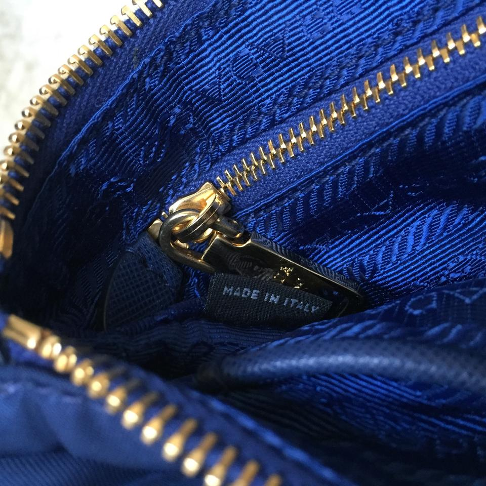Prada Tessuto Saffiano Clutch Sling Royal Blue Nylon Cross Body Bag -  Tradesy 40186259aeb1b