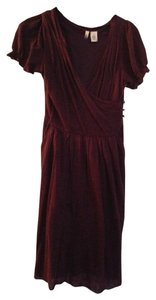 Anthropologie short dress Burgandy on Tradesy