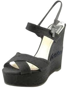 Dior Wedge Black Wedges
