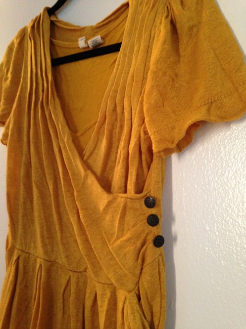 Anthropologie short dress Mustard Yellow on Tradesy Image 1
