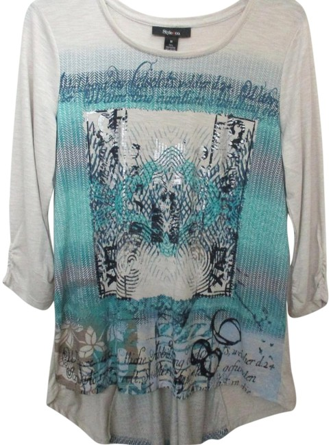 Preload https://img-static.tradesy.com/item/15944740/style-and-co-aqua-and-beige-x-large-tunic-size-petite-14-l-0-1-650-650.jpg
