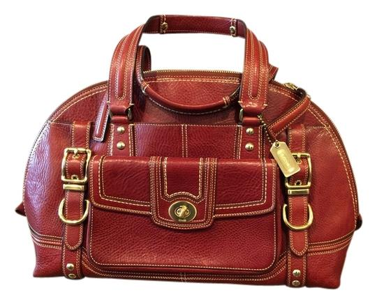 Coach Satchel in Red, Wine, Bordeaux