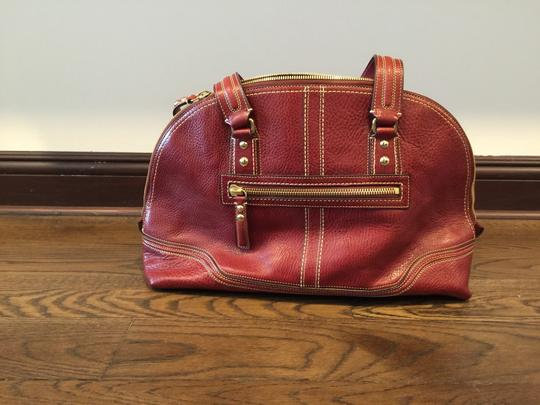 Coach Satchel in Red, Wine, Bordeaux Image 1