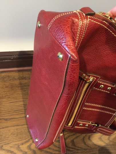 Coach Satchel in Red, Wine, Bordeaux Image 4
