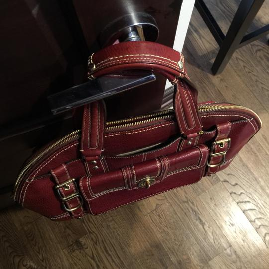Coach Satchel in Red, Wine, Bordeaux Image 6