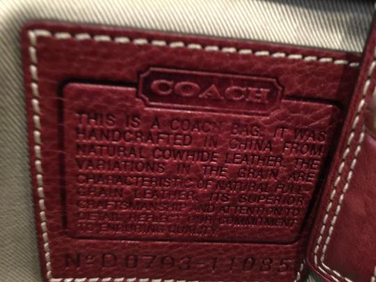 Coach Satchel in Red, Wine, Bordeaux Image 7