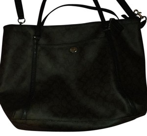 Coach Tote in Brown & Black