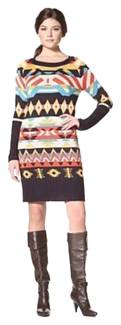 Jessica Simpson short dress Multicolored Long Sleeve Sweater Tribal Knit on Tradesy