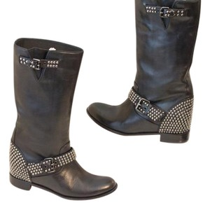 Christian Louboutin Studded Winter Black Boots