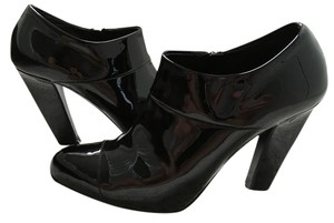 Prada Patent Leather Pointed Toe Booties Black Pumps
