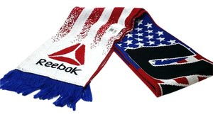Reebok UFC S507Z Limited Striped Flag Scarf Red White Blue Beanie Toque Knit