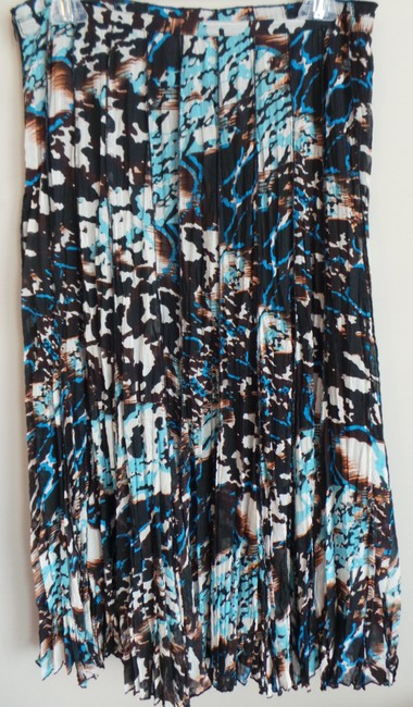 Alberto Makali Alberto Boho Pleated Maxi Skirt BROWN, BLACK, BLUE