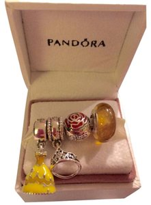 PANDORA Disney Pandora Belle Set Of 4 Charms: Dress, Murano, Rose, Tiara