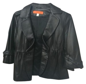 Cynthia Steffe Designer Chic Leather Trendy Fashion Leather Jacket