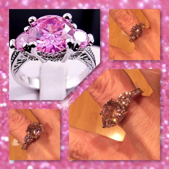 Other New 3 Stone Pink Sapphire Anniversary Ring Sz 6