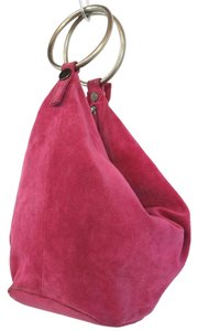 VERSUS Italy Pink Suede Leather Clutch