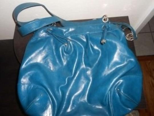 Style & Co Leather Tote Satchel in Teal