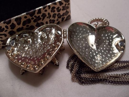 Betsey Johnson Betsey Johnson Hollywood Glam Collection Crystal Heart Locket Necklace