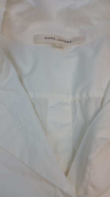 Marc Jacobs White Cotton Blouse Button Down Shirt