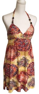 Cristinalove short dress Yellow multicolored Halter Top Cruise Summer Vacation on Tradesy