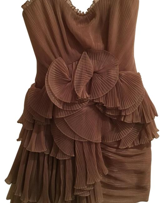 Preload https://img-static.tradesy.com/item/15947077/bcbgmaxazria-taupe-above-knee-formal-dress-size-0-xs-0-2-650-650.jpg