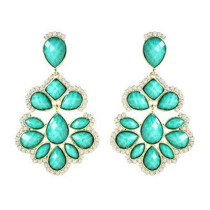 Amrita Singh Amrita Singh Turquoise Nello Star Crystal Resin Earrings Erc 5087