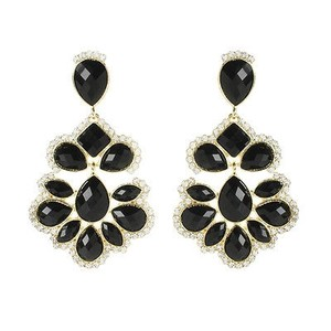 Amrita Singh Amrita Singh Jet Black Nello Star Crystal Resin Earrings Erc 5087