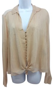 Elizabeth and James Blush Silk Top