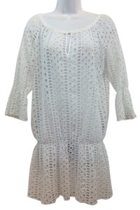 EXETERA short dress White Eyelet Cotton on Tradesy