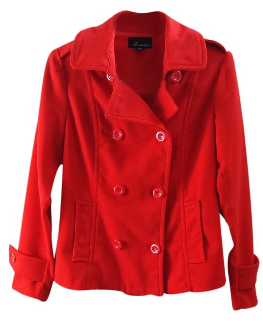 Forever 21 Double Breasted Button Pea Coat