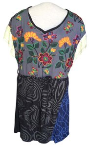 Desigual short dress Multicolor Bohemian Cotton on Tradesy