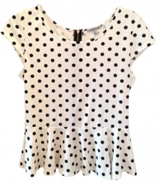 Preload https://item3.tradesy.com/images/charlotte-russe-black-and-white-polka-dot-blouse-size-12-l-159482-0-0.jpg?width=400&height=650