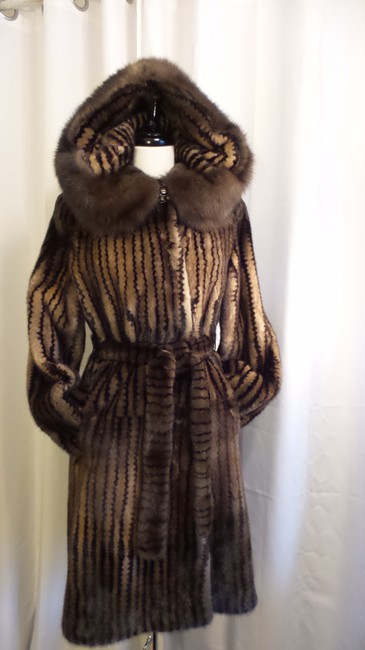 Millers Furs Mink Sable Fur Coat Image 1