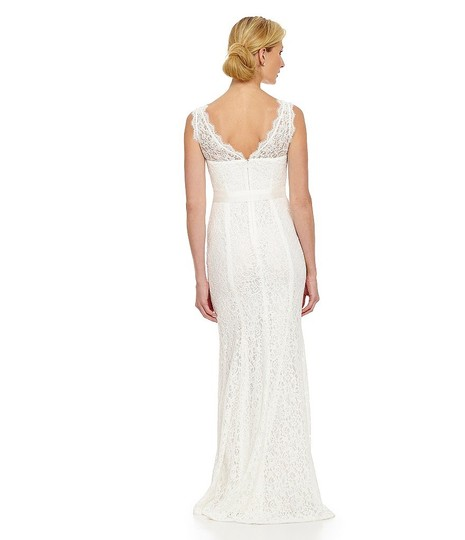 Adrianna Papell Wedding Gowns: Adrianna Papell V-neck Lace Gown Wedding Dress