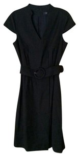 Esprit Work Sleeveless Short Sleeve Belted Dress