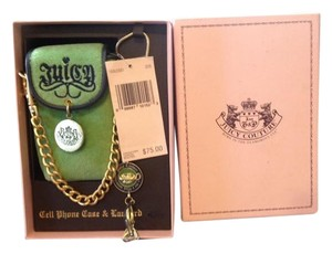 Juicy Couture JUICY COUTURE GREEN CELL PHONE CASE & LANYARD NWT MSRP $75